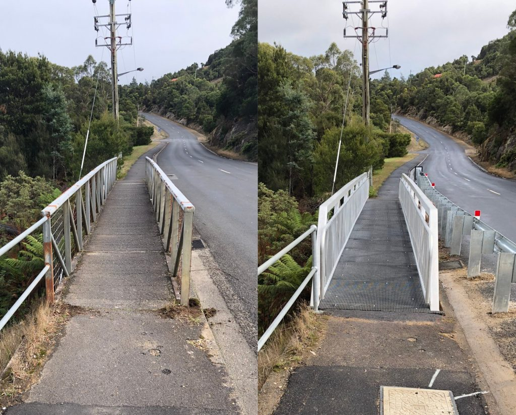 Aluminium Footbridge Manufacture and Installation Rosebery Tasmania.